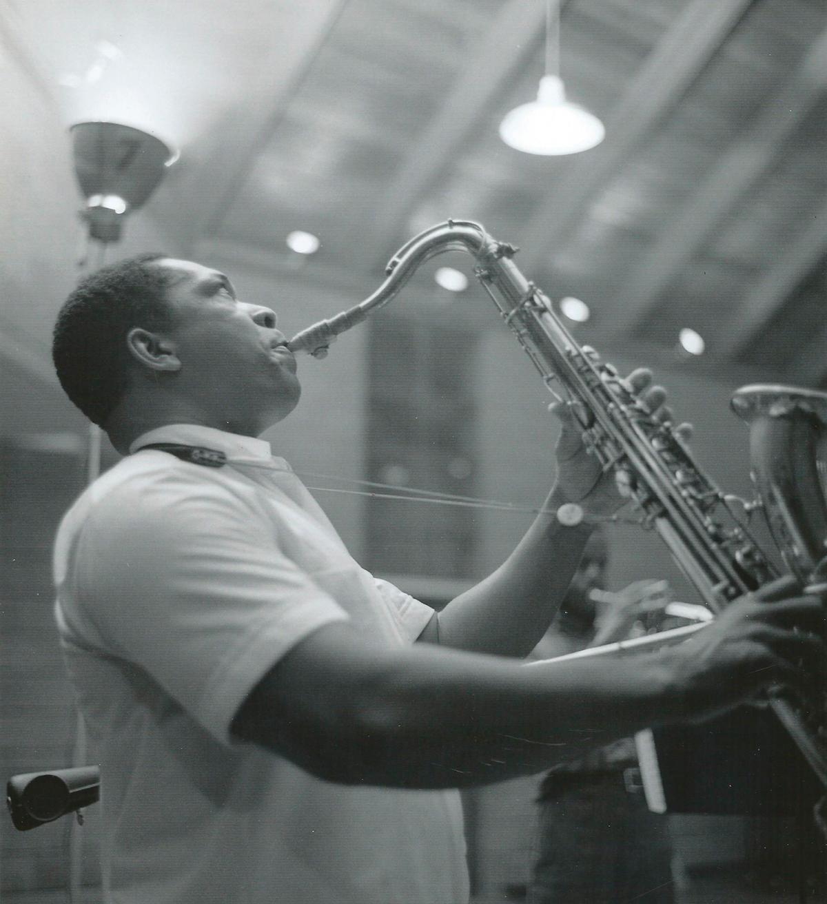 John Coltrane playing the saxophone
