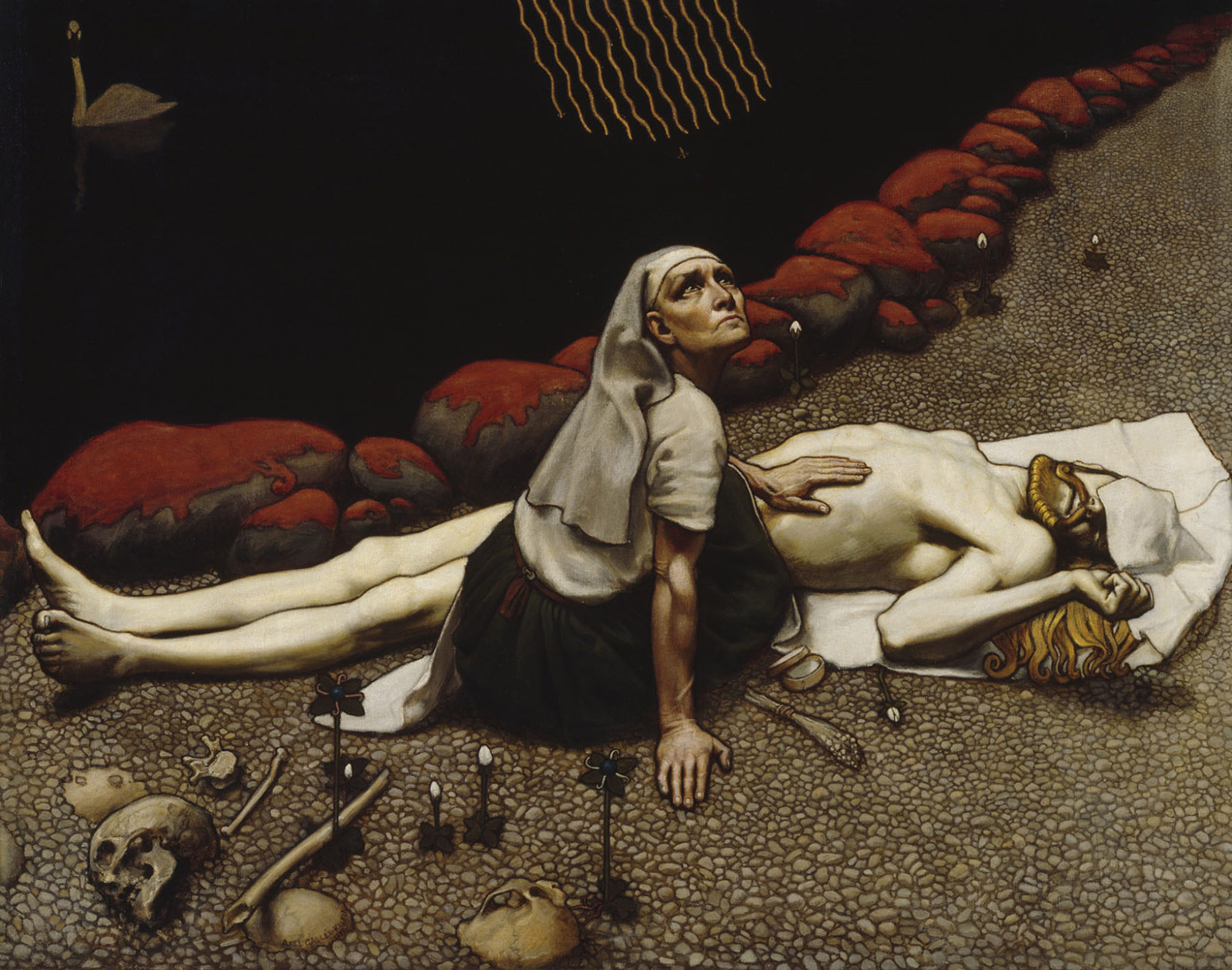 Lemminkäinen's Mother; painting by Akseli Gallen-Kallela