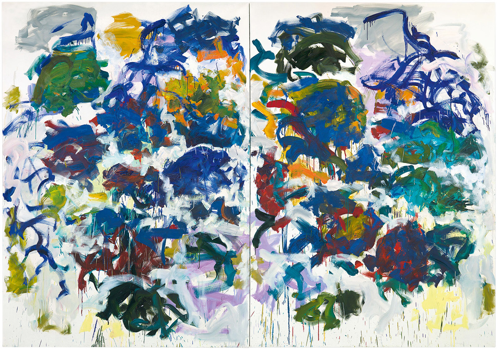 Sunflowers, 1990–1991; painting by Joan Mitchell
