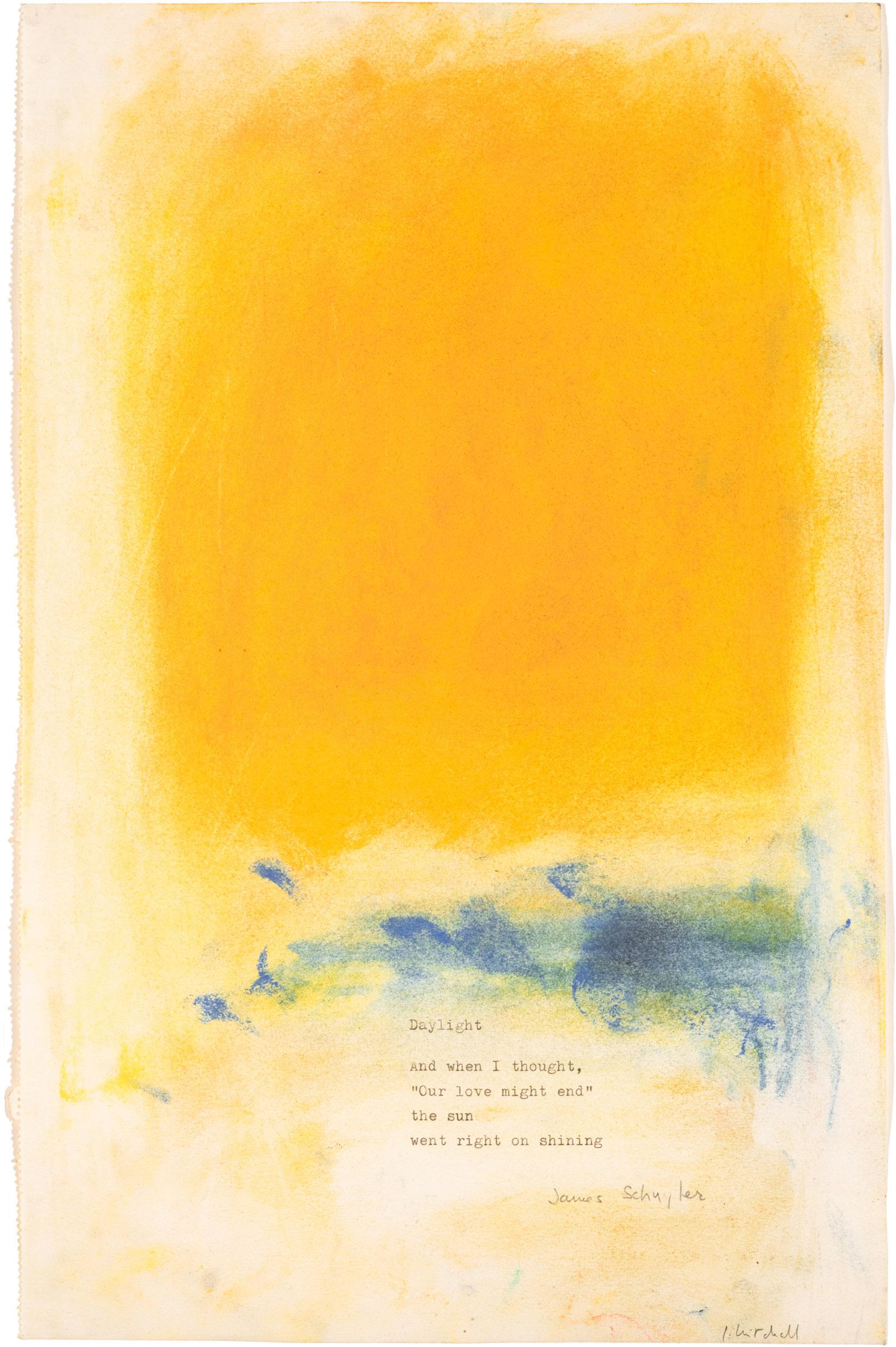 Daylight, poem-pastel; artwork by Joan Mitchell and James Schuyler